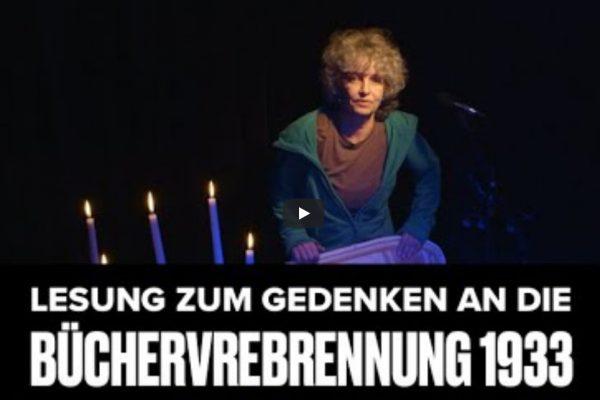 Lesung am Gedenktag der Bücherverbrennung am 8. Mai 2020 – Aufzeichnung per Live-Stream aus der Kulturbühne Hinterhalt